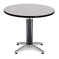 OFM 36″ Multi-Purpose Round Table with Metal Mesh Base, Gray Nebula (MT36RD-GRYNB)