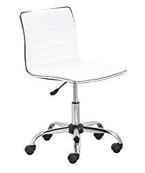BTEXPERT 5029w BTExpert Swivel Mid Back Armless Ribbed Designer Task Chair Leather Soft Upholstery Office Chair – White