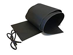 RHS Snow Melting System, roof and valley snow melting mats, Sizes 5′ feet x 13″ inches, Color black, UL components, 5 ft. mat melts 2″ inches of snow per hour, buy factory direct, (5′ ft. x 13″ in.)