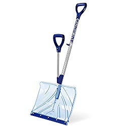 Snow Joe SJ-SHLV02 18-IN Strain-Reducing Poly Carbonate Blade Snow Shovel w/ Spring Assisted Handle