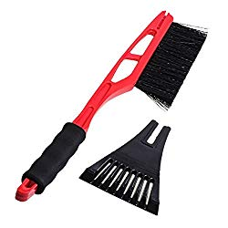 ZYHW Outdoor Car Snow Dust Scraper Brush Auto Supplies Brush Tool Snow Remover(red)