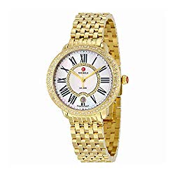 Michele Serein White Mother of Pearl Dial 18kt Gold-plated Ladies Watch MWW21B000031