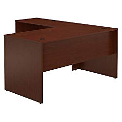 Bush Furniture Commerce 60W L Shaped Desk in Autumn Cherry