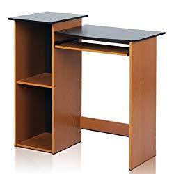 Furinno 99914R1LC/BK Econ Multipurpose Computer Writing Desk, Light Cherry/Black