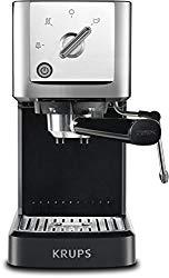 KRUPS XP344C51 Calvi Steam And Pump Professional Compact Espresso Machine Coffee Maker, 1-Liter, Black
