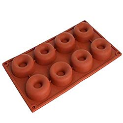 1 pcs 8 Cavity Silicone mini Donut Pan Muffin Cups Cake Baking Ring Biscuit Mold