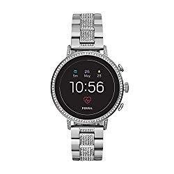 Fossil Women's Gen 4 Q Venture HR Stainless Steel Touchscreen Smartwatch, Color: Silver (Model: FTW6013)