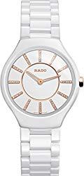 Rado True Thinline Jubile White Ceramic Ladies Watch R27958702