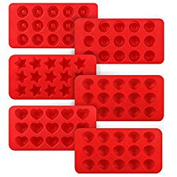 Kootek 6 Pieces Silicone Chocolate Molds, Reusable 90 Cavity Candy Mold – BPA Free Baking Supplies Tools for Making Chocolates Hard Candies Gummy Gumdrop Jelly Desserts Ice Cube Candles Soap Pudding