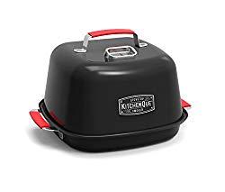 Charcoal Companion CC4132 KitchenQue Indoor Stovetop Smoker, 15.5″ x 12.7″ x 9.7″, Black