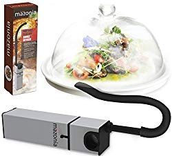Mazonia Portable Infusion Smoker Gun: For Kitchen Indoor/Outdoor | For Meat,Sous Vide, Grill, Bbq, Cocktail Drinks & Cheese. Uses Real Wood Chips (Silver)