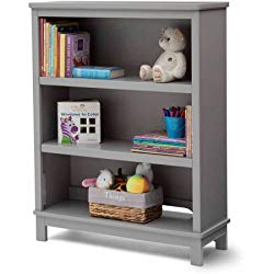 Delta Children Epic Bookcase/Hutch For Books and Toys – Grey