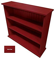 Sawdust City Solid Wood Hall Bookcase (Solid – Red)