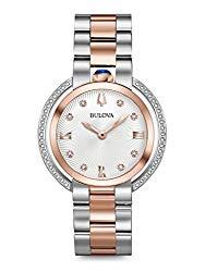 Bulova Diamond Ladies Women's Rubaiyat Watch 98R247