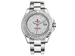 NEW Rolex Yacht Master with Platinum Dial, Case in 904 L Stainless Steel with Platinum Bezel Mens watch 116622 PL