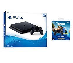 Playstation 4 Fortnite Starter Bundle: Playstation Exclusive Royale Bomber Outfit, 500 V-Bucks, Playstation 4 Slim 1 TB Console with Extra DUALSHOCK 4 Wireless Controller – Black