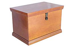 Fabian Woodworks Memory Box – Wooden – Lockable – Clear – Store Keepsakes, Mementos and Photos