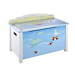Guidecraft Wood Hand-Painted Sailing Toy Box – Toy Chest & Storage, Kids furniture