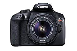 Canon EOS Rebel T6 Digital SLR Camera Kit with EF-S 18-55mm f/3.5-5.6 IS II Lens, Built-in WiFi and NFC – Black (US Model)