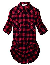 Match Women's Long Sleeve Plaid Flannel Shirt #2021 (X-Large, 2021 Checks#1)