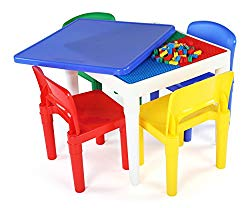Tot Tutors CT794 Lego-Compatible Table, Toddler, Primary