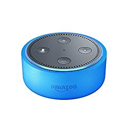 Echo Dot Kids Edition, a smart speaker with Alexa for kids – blue case