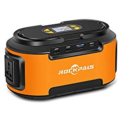 Rockpals 200W Portable Generator 60000mAh CPAP Battery Backup Portable Power Station with USB C& USB QC3.0 110V AC 12V DC Output for Emergence Travel Home