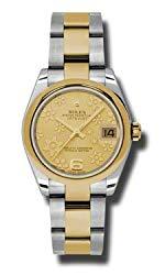 Rolex Datejust Gold Dial Women's Watch 178243