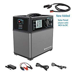 HY-PS5B ACOPOWER 400Wh Portable Solar Generator Power Supply Energy Storage Lithium ion Battery Charged by Solar/AC Outlet/Cars with 300W AC Pure Sine Wave Inverter