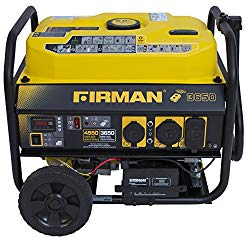 Firman P03608 4550/3650 Watt Gas Remote Start Generator, CARB, Yellow