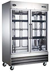 Heavy Duty Commercial Stainless Steel Reach-In Refrigerator (Two Glass Door)