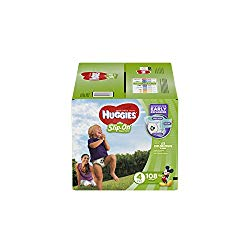 HUGGIES Little Movers Slip On Diaper Pants, Size 4, 108 Count, GIANT PACK (Packaging May Vary)
