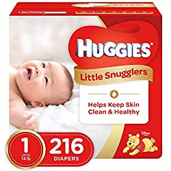 Huggies Little Snugglers Diapers – Size 1 – 216 ct