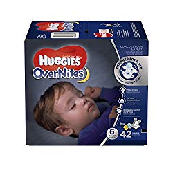 HUGGIES OverNites Diapers, Size 6, 42 ct., BIG PACK Overnight Diapers (Packaging May Vary)