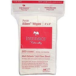 Intrinsics Petite Silken Wipes – 2″x2″, 4-ply Blend of Soft Fibers, 200 Count