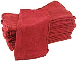 Shop Towels Red-Commercial/Industrial B Grade MHF brand – 1000 piece box – NEW 100% Cotton