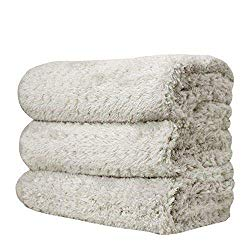 THE RAG COMPANY (3-Pack 16 in. x 23 in. Platinum PLUFFLE Professional Korean 70/30 490gsm Plush Waffle Microfiber Detailing Drying Towels