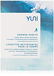 YUNI Beauty Shower Sheets Large Body Wipes, 12 Count
