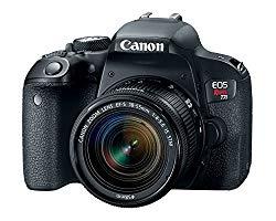 Canon EOS Rebel T7i DSLR Camera with 18-55mm Lens – Black (Certified Refurbished)