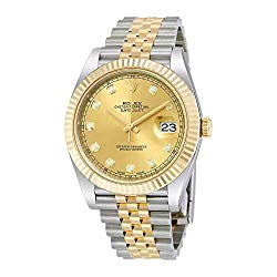 Rolex Datejust 41 Champagne Diamond Steel and 18K Yellow Gold Jubilee Mens Watch 126333CDJ