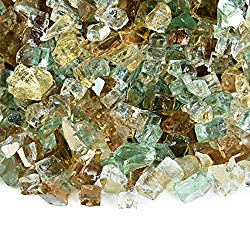 Irish Roast – Fire Glass Blend for Indoor and Outdoor Fire Pits or Fireplaces | 10 Pounds | 1/4 Inch, Reflective
