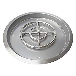 Stanbroil Stainless Steel Round Drop-in Fire Pit Pan with 18″ Burner Ring, 25-Inch