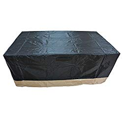 Stanbroil Rectangle Fire Pit/Table Cover, 60″ L x 38″ W x 24″ H