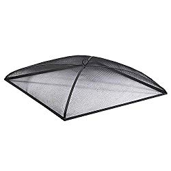 Sunnydaze Fire Pit Spark Screen Cover, Outdoor Heavy Duty Square Firepit Lid Protector, 36 Inch