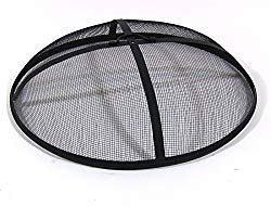 Sunnydaze Outdoor Fire Pit Spark Screen Cover, Round Heavy-Duty Steel Mesh Lid, 30-Inch