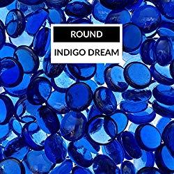 Bond Manufacturing 67984 LavaGlass Round Fire Pit Dispersion Glass, 10 lb. Indigo Dream