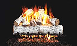 Real Fyre 24-inch White Birch Vented Gas Logs Bundled with G45 Burner Kit (Natural Gas)