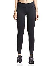 Baleaf Women's Ankle Legging Yoga Pants Inner Pocket Non See-Through Black Size S