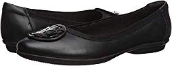 CLARKS Women's Gracelin Lola Black Leather/Synthetic Combo 7.5 D US