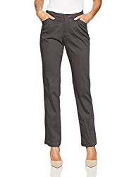 LEE Women's Flex Motion Regular Fit Straight Leg Pant, Iron 12